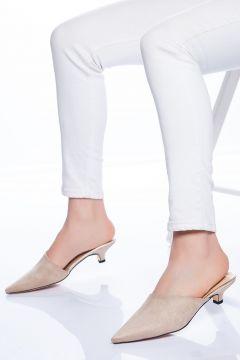 Ayakkabı Frekansı Mila Terlik Ten Süet(110942097)