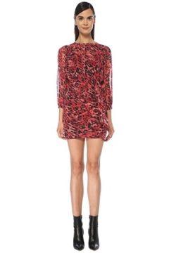 Allsaints Kadın Barre Kırmızı Leopar Desenli Mini Elbise 2 US(118060074)