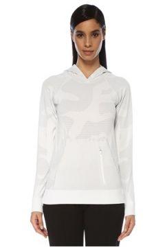 Jerf Kadın Bandon Beyaz Kapüşonlu Desenli Sweatshirt S/M EU(127756703)