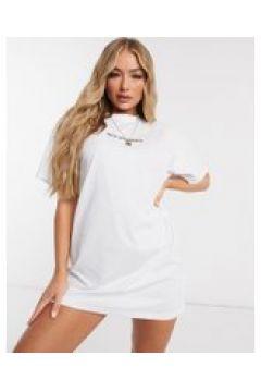 New Girl Order - Vestito T-shirt con logo-Bianco(122178177)