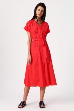 Koton V Yaka Kırmızı Elbise(113977418)