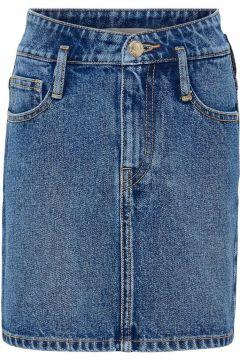 ONLY Taille Haute Jupe En Jean Women Blue(122836284)