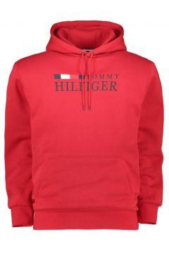 Tommy Hilfiger: Kapuzen-Hoodie mit Hersteller-Print, 3XL, Rot(108378741)