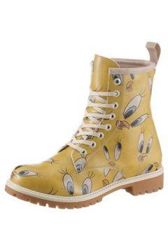 DOGO Schnürboots \'Tweety in Yellow\' senf / nude / hellblau(108186912)
