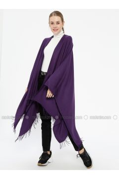 Plain Color Poncho - Purple - Ozsoy(110343603)