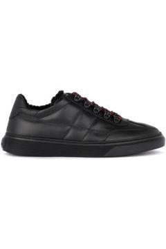 Chaussures Hogan Basket modèle H365 en cuir noir avec mouton(115458805)