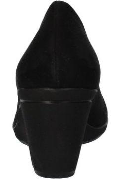 Sandales Mary Collection talons compensé noir daim AF752(127910603)