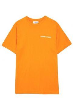 T-shirt Andrea Crews Tee-shirt WORK Orange(88685581)