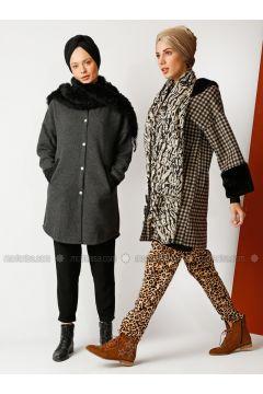 Smoke-coloured - Fully Lined - Crew neck - Cotton -- Puffer Jackets - Meryem Acar(110327064)