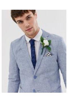 Jack & Jones - Premium - Regulär geschnittene Anzugjacke aus Leinen in Blau - Blau(95026446)