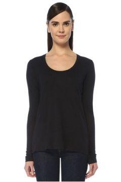 American Vintage Kadın Jacksonville Lacivert Uzun Kol T-shirt L EU(109265179)