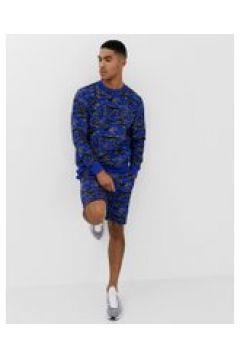 Soul Star- Kombiteil - Bedruckte Jersey-Shorts - Blau(90472823)