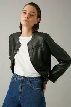 Koton Kadın Deri Görünümlü Fermuarli Ceket(124369932)