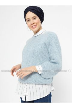 Blue - Crew neck -- Jumper - Zentoni(110323438)