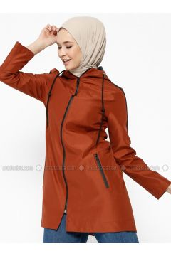 Terra Cotta - Fully Lined - Trench Coat - Dadali(110323032)
