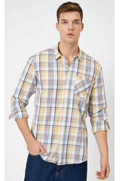 Koton Erkek Ekoseli Uzun Kollu Slim Fit Casual Gömlek(113433679)