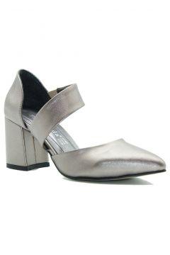 Park Moda Platin Kadın Klasik Topuklu Ayakkabı(124149206)