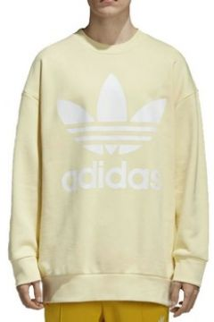Sweat-shirt adidas TREFOIL OVER FELPA GIALLA(115476786)