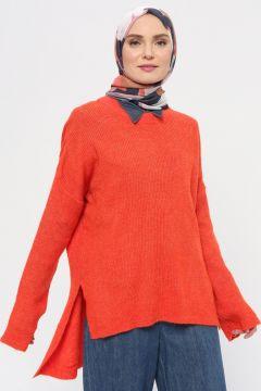 Tuniques En Maille VolumeX Orange(119071724)