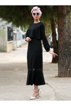 Black - Crew neck - Unlined - Dresses - Myzen(110336542)
