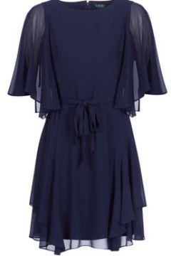 Robe Lauren Ralph Lauren NAVY-3/4 SLEEVE-DAY DRESS(115490367)