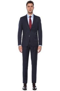 Network Erkek Slim Fit Drop 6 Lacivert Desenli Yün Takım Elbise 46-6N EU(117771755)
