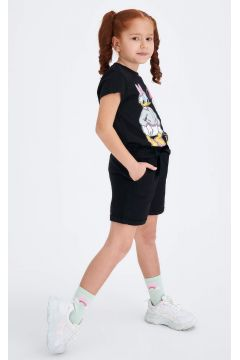 DeFacto Kız Çocuk Beli Kemerli Kısa Dokuma Şort(119060598)