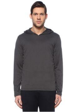 Isaia Erkek Gri Kapüşonlu İpek Sweatshirt L EU(127683984)