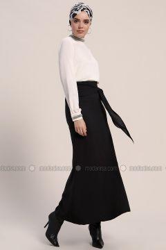 Black - Unlined - Skirt - Refka(110317072)