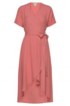 Melanie Wrap Dress Kleid Knielang Pink RESIDUS(114164573)