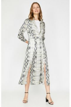 Koton Kadın Yilan Derisi Desenli Elbise(124216833)