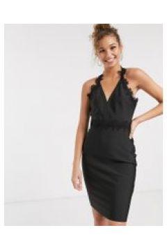 Lipsy - Vestito longuette con bordi in pizzo all\'uncinetto nero(120321288)