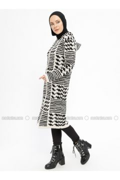 Black - Beige - Multi - Acrylic -- Cardigan - Dadali(110331677)