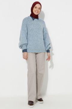Pantalon A Point Couleur Pierre(119069569)