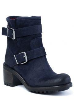 Boots E-cow Roxanne Saturnia Blue Cuir(115440089)