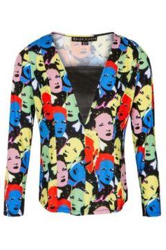 T-shirt Bleu D\'azur Tshirt jersey cintré imprimé visage LODGE(128008255)