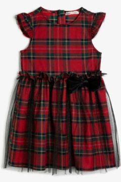Koton Kız Çocuk Kareli Elbise(118214158)