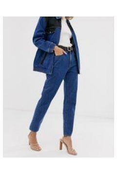 Abrand - Jeans slim anni \'94 stile western coordinati con pannelli-Blu(123218414)