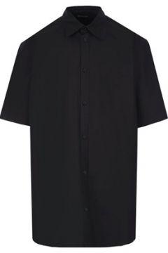 Balenciaga Erkek Regular Fit Siyah Polo Yaka Kısa Kollu Gömlek 40 IT(114438645)