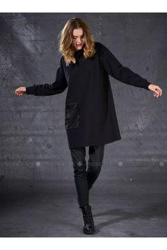 Crew neck - Black - Sweat-shirt - Eda Atalay(110331500)