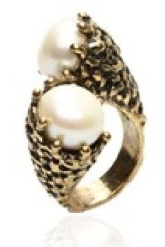 Alcozer & J Kadın Gold İnci Detaylı Yüzük Altın Rengi EU(125183282)