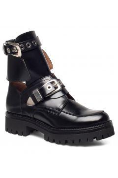 Melanie High Shine Black Shoes Boots Ankle Boots Ankle Boots Flat Heel Schwarz HENRY KOLE(95010137)