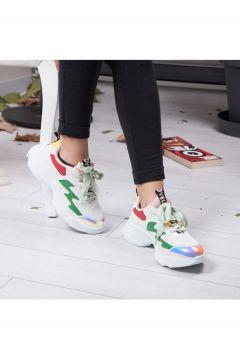 TIFFANY&TOMATO Tiffany Tomato Beyaz Kadın Spor Ayakkabı(110940932)