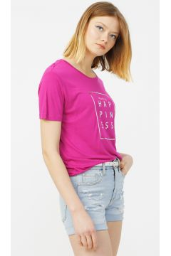 Aeropostale Fuşya T-Shirt(113996048)