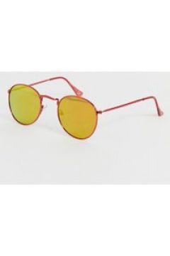 River Island - Runde Sonnenbrille in Rot - Rot(95023184)