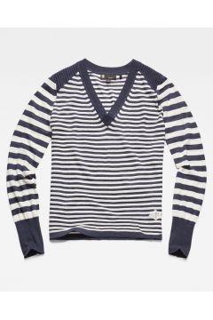 Hoop V-Knitted Sweater(117461706)