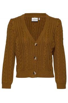 Rawangz Short Cardigan Cardigan Strickpullover Braun GESTUZ(117080686)
