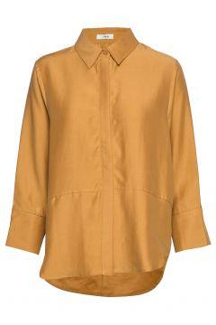 Teon Shirt Stg Langärmliges Hemd Gelb IBEN(114152170)
