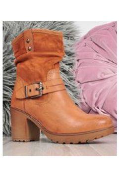 Pantofelek24.pl | Wygodne damskie botki na słupku CAMEL(112082611)