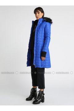 Saxe - Fully Lined - Polo neck - Coat - MOODBASİC(110339161)